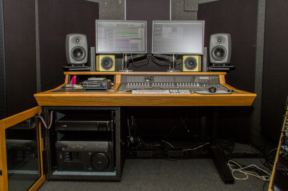 Garden Street Academy Control Room Avid C|24 Console and Sonnet xMac Pro Rack