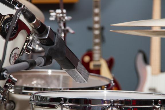Garden Street Academy Recording Studio DW Drums and Sennheiser MD 441 Mic