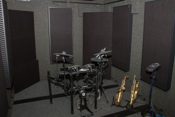 Garden Street Academy WhisperRoom Isolation Booth with Yamaha Electronic Drum Kit