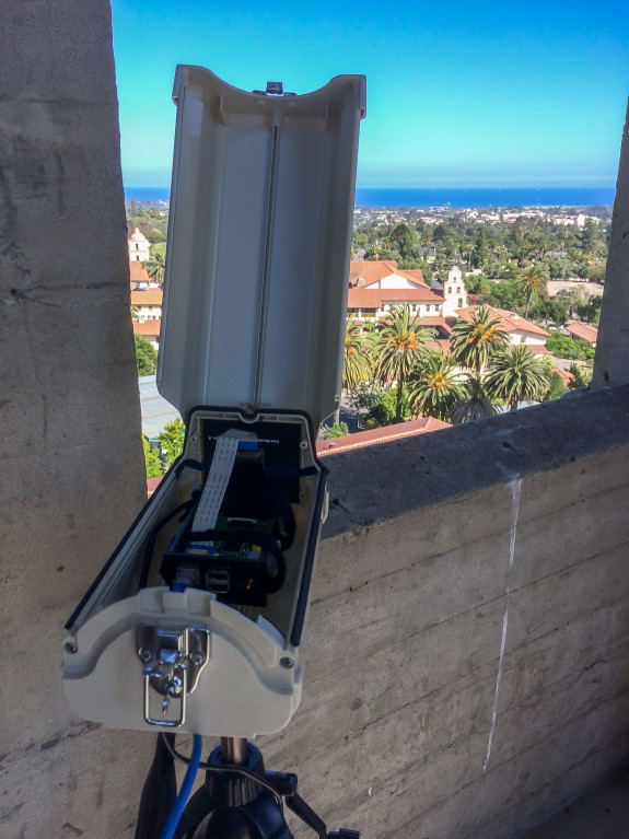 Garden Street Academy Raspberry Pi Weather Camera Inside Housing Overlooking Old Mission