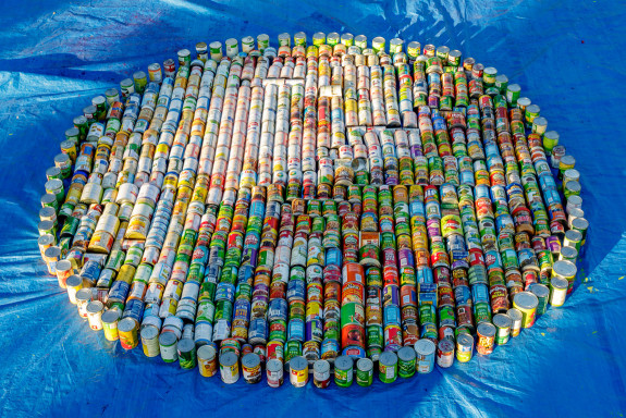 Garden Street Academy Canned Food Mosaic Art Piece - Yin Yang