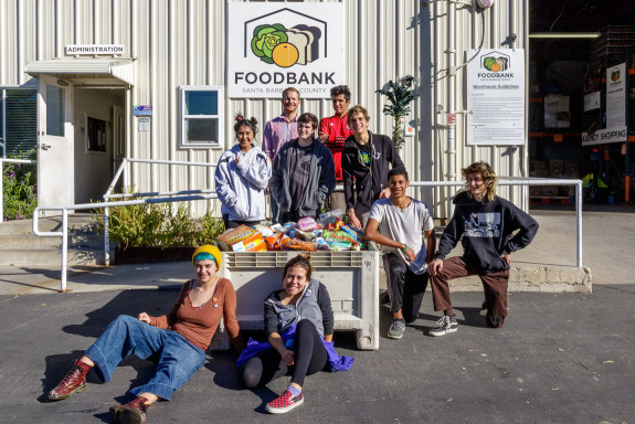 Garden Street Academy Graphic Design Students Donating Food to Santa Barbara Foodbank