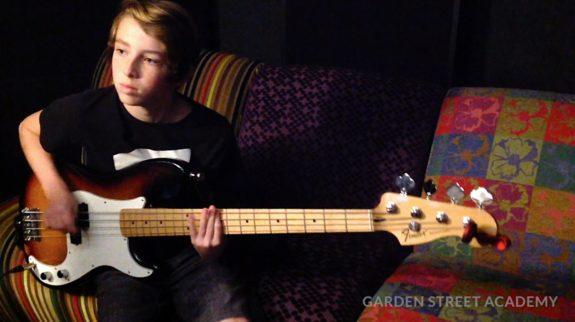 Garden Street Academy 7th Graders Recording Studio Rock Video Bass Guitar
