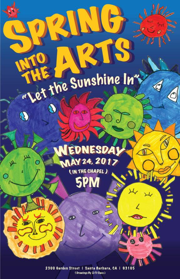 Garden Street Academy Spring Into Arts Poster 2017