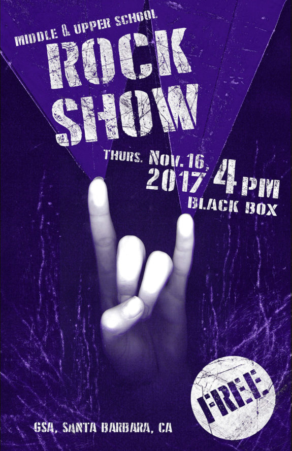 Middle and High School Rock Show Nov. 16, 4pm