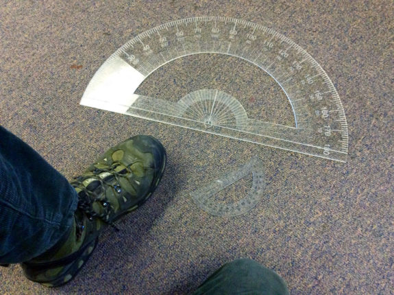 Garden Street Academy High School Polyhedral Sculpture Laser-Cut Protractor