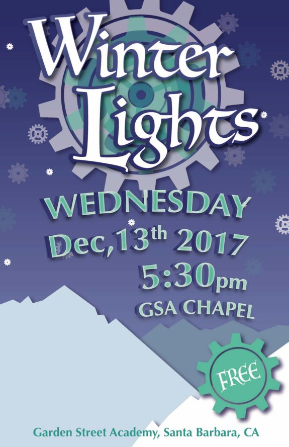 Garden Street Academy Winter Lights Poster 2017
