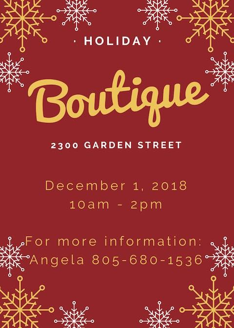 Holiday Boutique at Garden Street Academy 2018