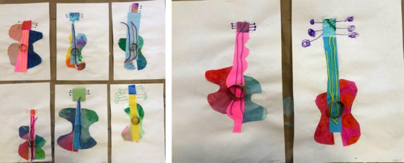 Kinder and First Grade Students Learn Picasso