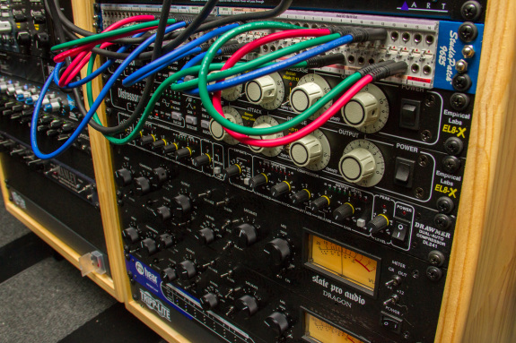 Garden Street Academy Recording Studio Compressors and Patch Bay