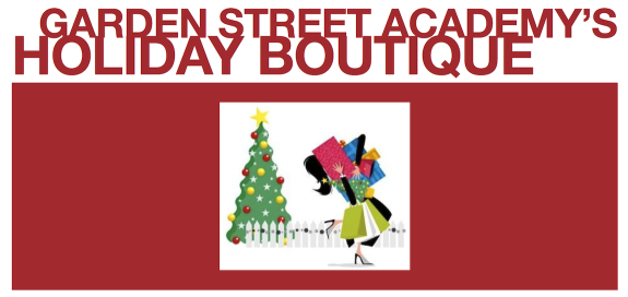 Garden Street Academy Holiday Boutique Flier Art