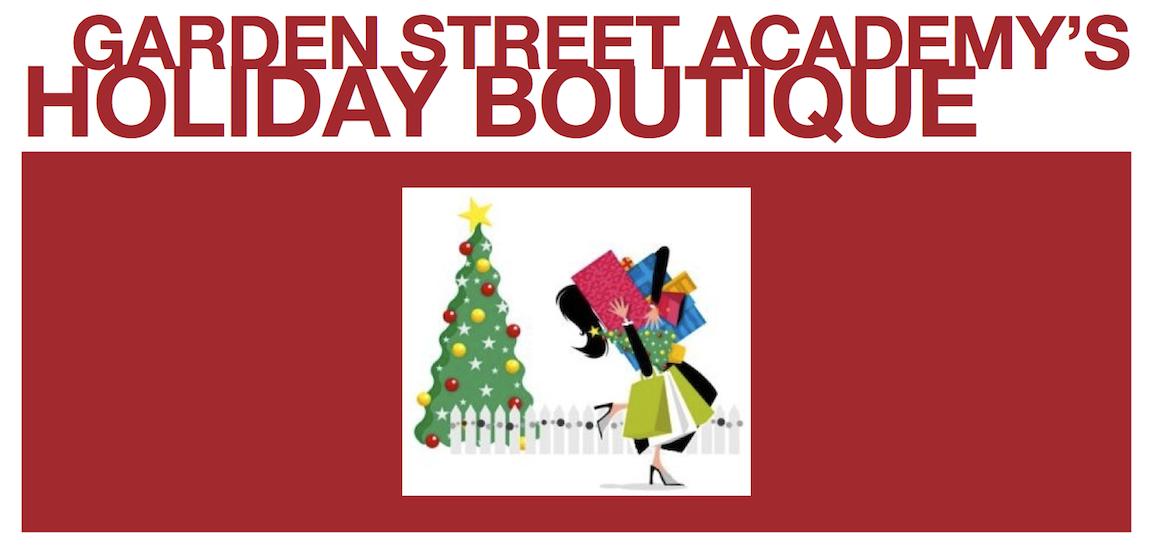 Garden Street Academy Holiday Boutique Flier Art