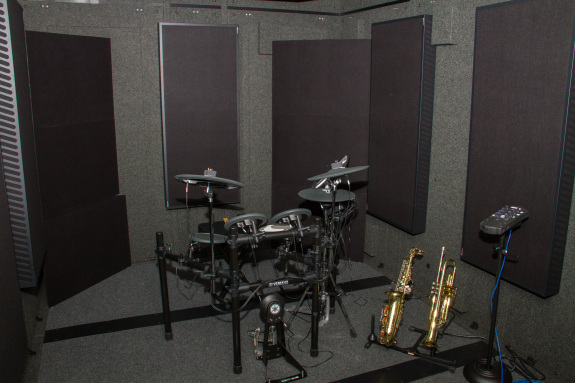 Garden Street Academy WhisperRoom Isolation Booth with Yamaha Electronic Drum Kit