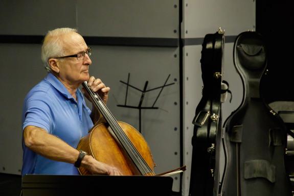 John Sant' Ambrogio Playing Cello at Garden Street Academy
