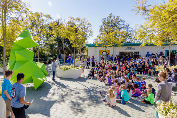 Garden Street Academy Students Witness Unveiling of Reverse Entropy Student Sculpture