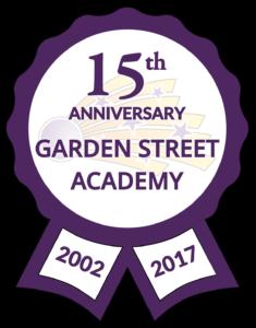 Garden Street Academy Fifteenth Anniversary Logo