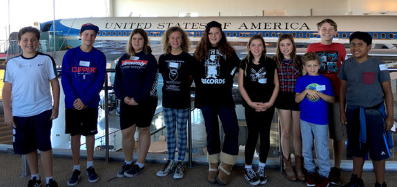Garden Street Academy 4th-8th Grade Students Reagan Library Field Trip 2016 Air Force One