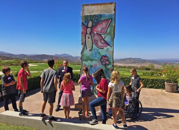 Garden Street Academy 4th-8th Grade Students Reagan Library Field Trip 2016 Berlin Wall
