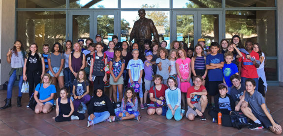 Garden Street Academy 4th-8th Grade Students Reagan Library Field Trip 2016 Group Photo