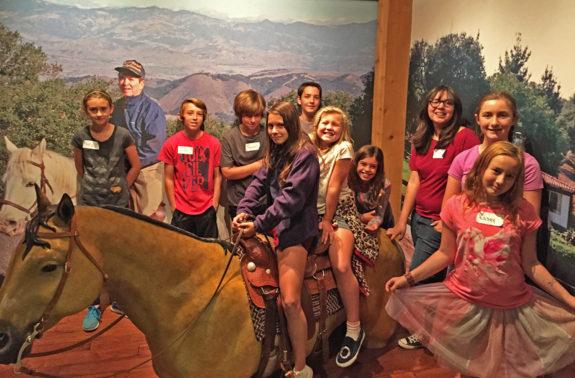 Garden Street Academy 4th-8th Grade Students Reagan Library Field Trip 2016 Horses