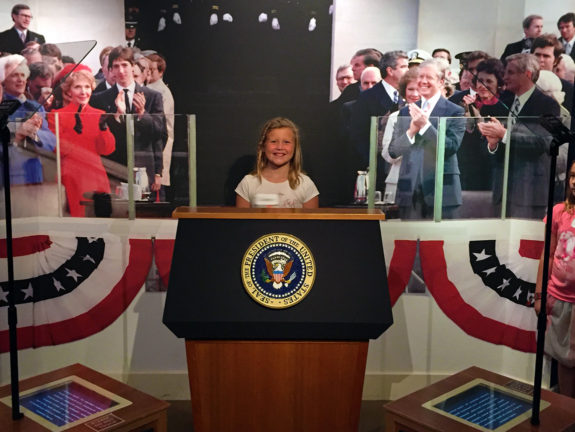 Garden Street Academy 4th-8th Grade Students Reagan Library Field Trip 2016 Oval Office