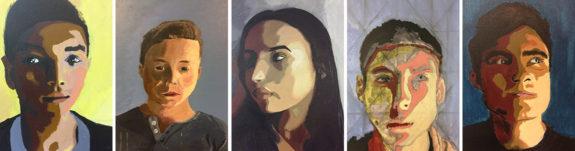 Garden Street Academy Upper School Student Self-Portraits
