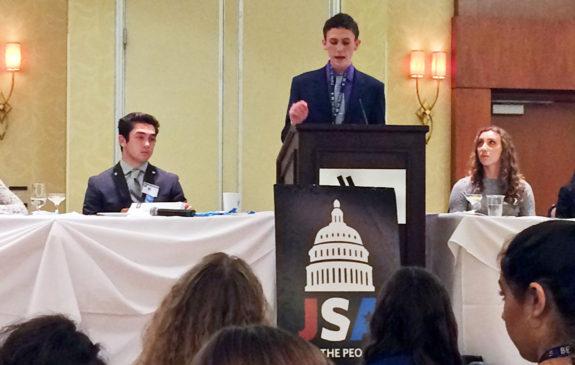 Garden Street Academy student gives speech at Junior State America