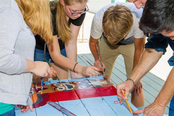 Garden Street Academy High School Students Canada Table Painting