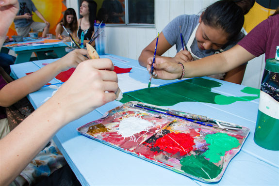 Garden Street Academy High School Students Mexico Central America Table Painting 2