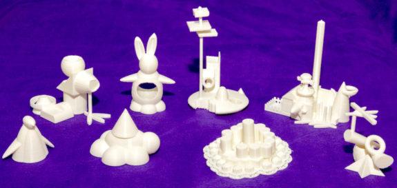 Garden Street Academy 6th Grade Tech Students 3D Printer Sculptures