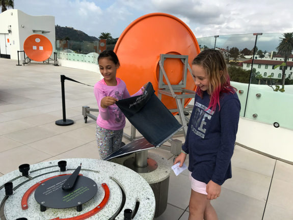 Garden Street Academy Elementary Students at Moxi Museum Roof Exhibits