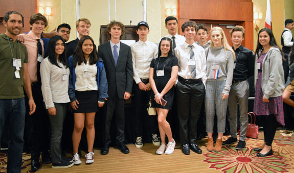 Garden Street Academy High School Students Group Photo at JSA Conference 2017
