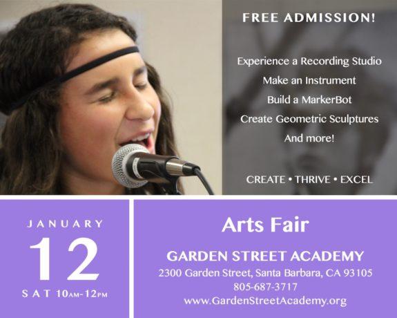Garden Street Academy Arts Fair Flyer 2019