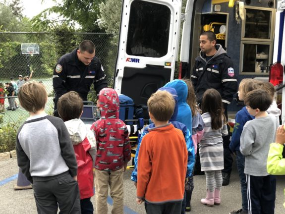 Garden Street Academy Kinder Students Meet Community Helpers from AMR 2