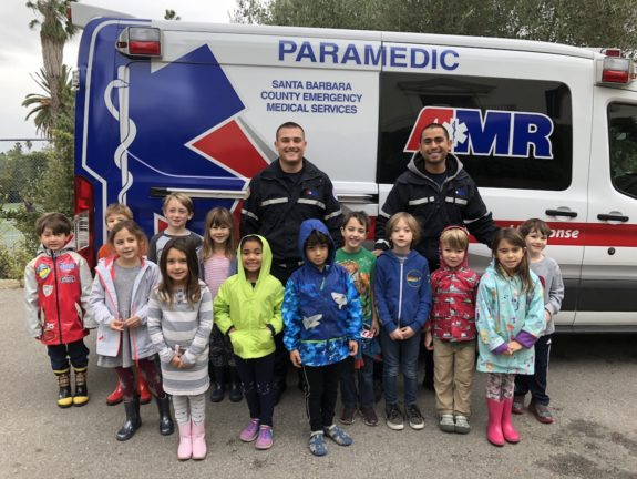 Garden Street Academy Kinder Students Meet Community Helpers from AMR