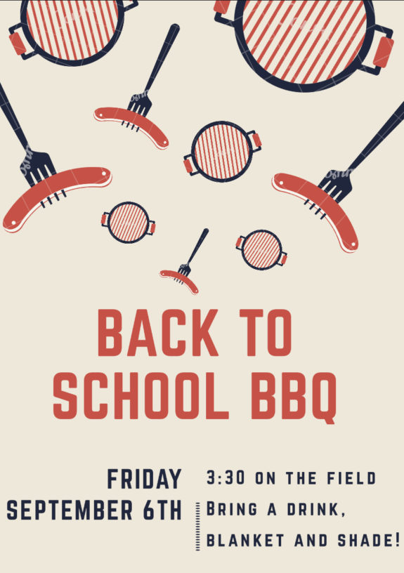 Garden Street Academy Back to School BBQ Flyer 2019