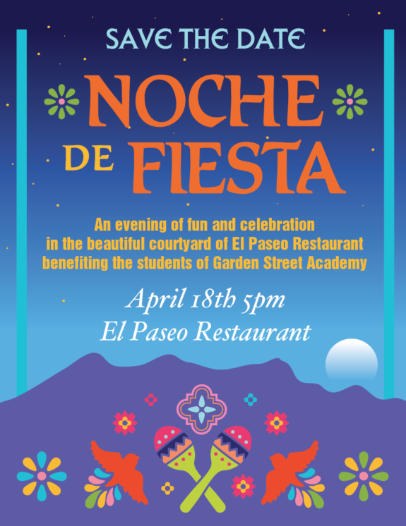 Garden Street Academy Annual Auction 2020 Flyer Noche de Fiesta